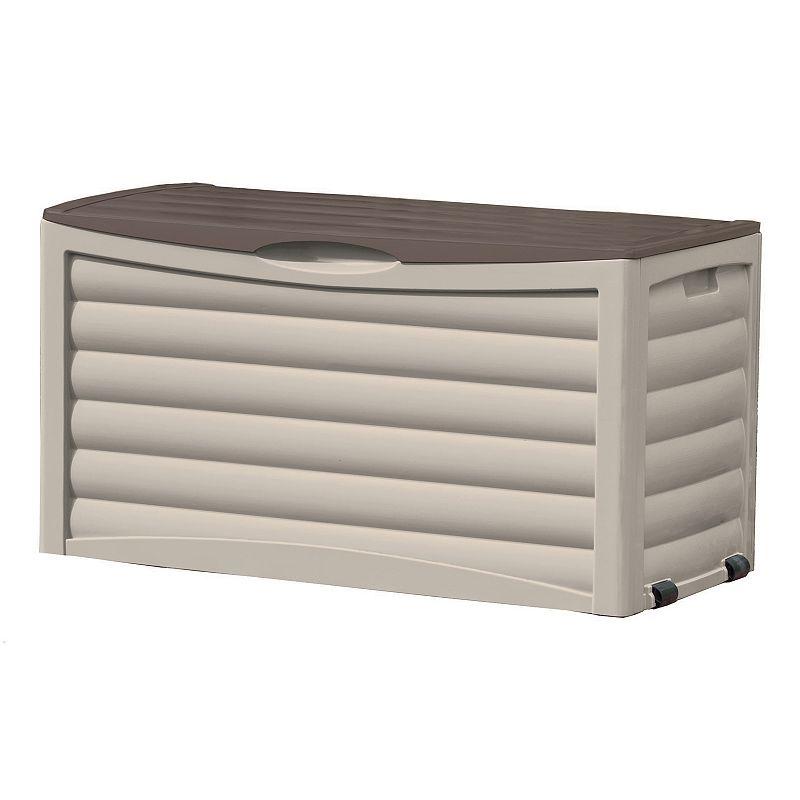 Outdoor Suncast 83-Gallon Deck Box, Brown