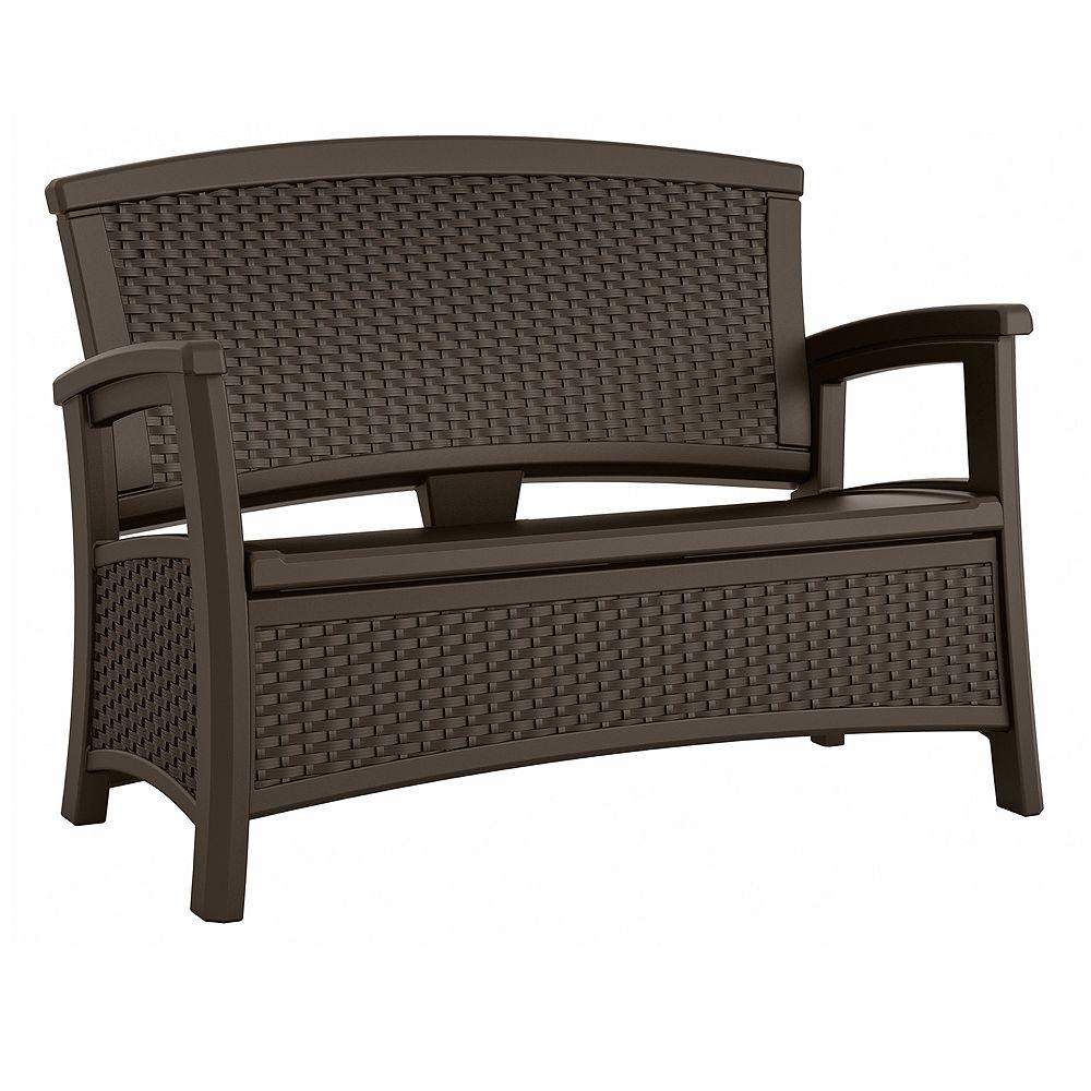 Elements Outdoor Storage Loveseat - Outdoor storage furniture