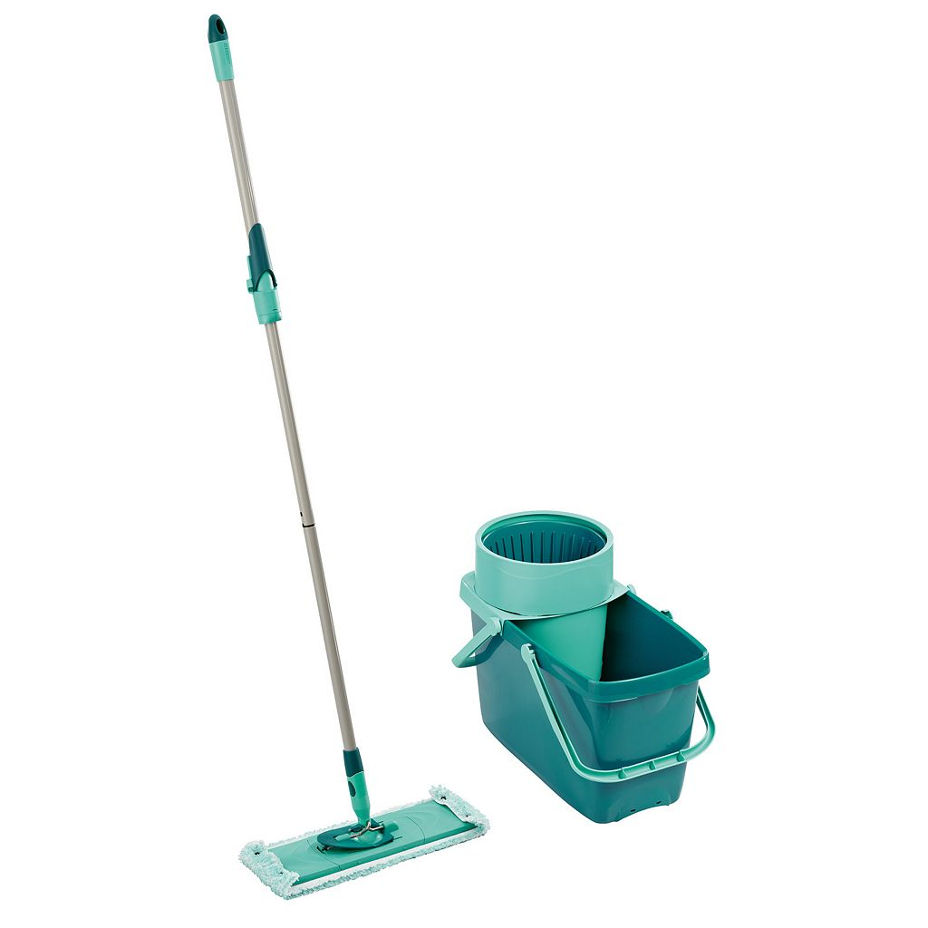 Leifheit 3-pc. Clean Twist Sweeper Mop XL, Bucket & Microfiber Cleaning Pad Set