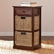 Colton 2-Basket Storage End Table