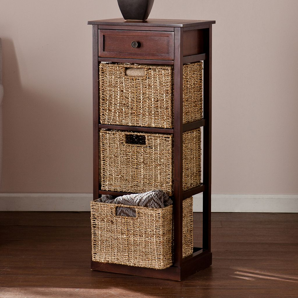 Colton 3-Basket Storage Table