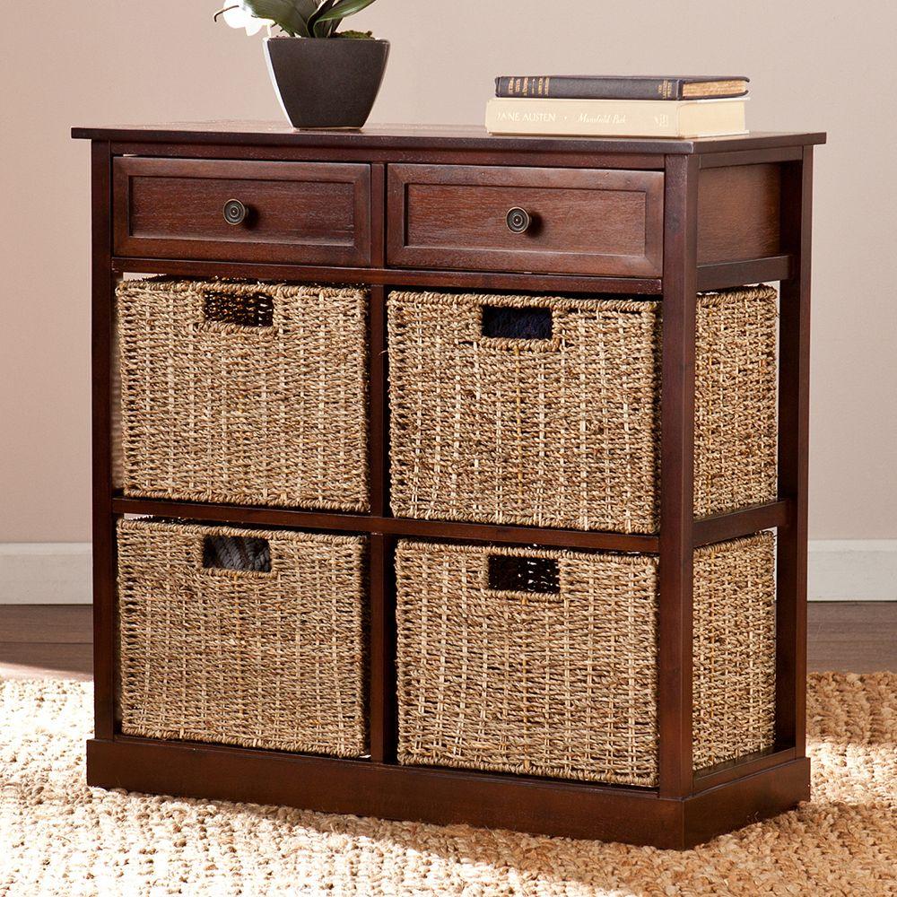 Colton 4 Basket Storage Cabinet