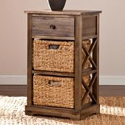 Kivlen 2-Basket Storage End Table