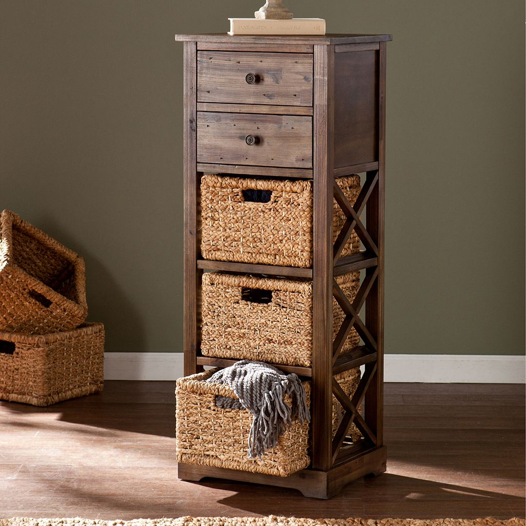 Kivlen 3-Basket Storage Tower