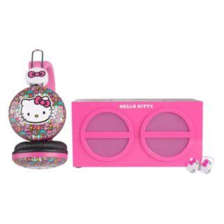 Hello Kitty 3-Piece Stereo Speaker & Headphone Set by Sakar