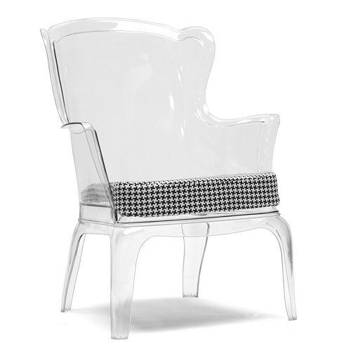 Baxton Studio Tasha Houndstooth Accent Chair
