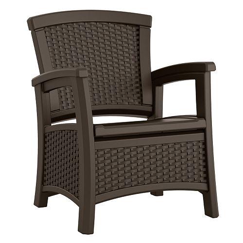 Suncast Elements Outdoor Storage Club Chair