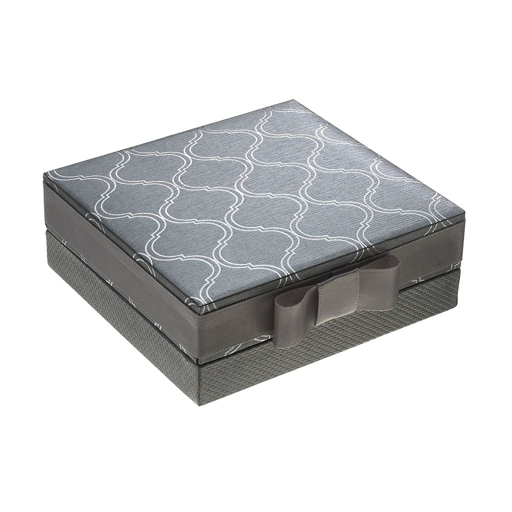 Silver Luxuries Silver-Plated Marcasite & Cubic Zirconia Stud & Hoop Earring Set