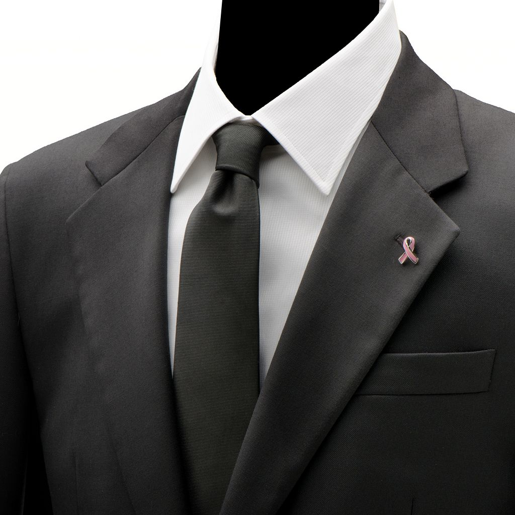 Pink Ribbon Cancer Awareness Lapel Pin