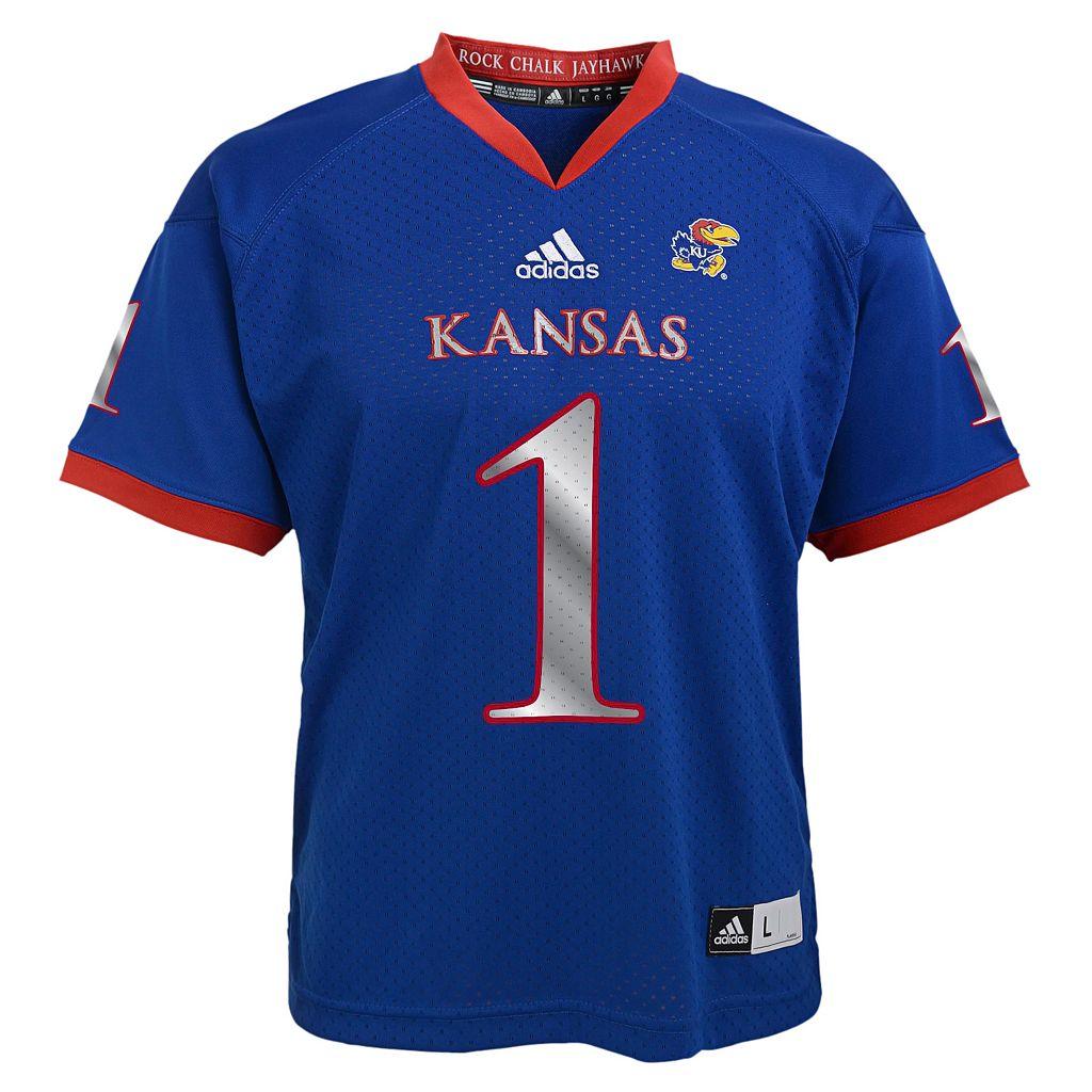 Boys 4-7 adidas Kansas Jayhawks Replica Football Jerseyx