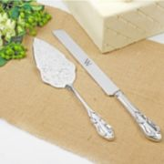 Cathy's Concepts Monogram Vintage 2-pc. Wedding Cake Server Set