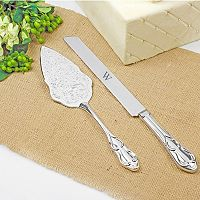 Cathy's Concepts Monogram Vintage 2 pc Wedding Cake Server Set