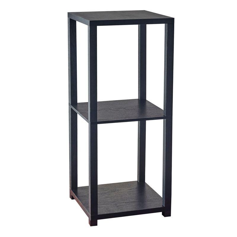 Adesso Lawrence Short Pedestal End Table, Black