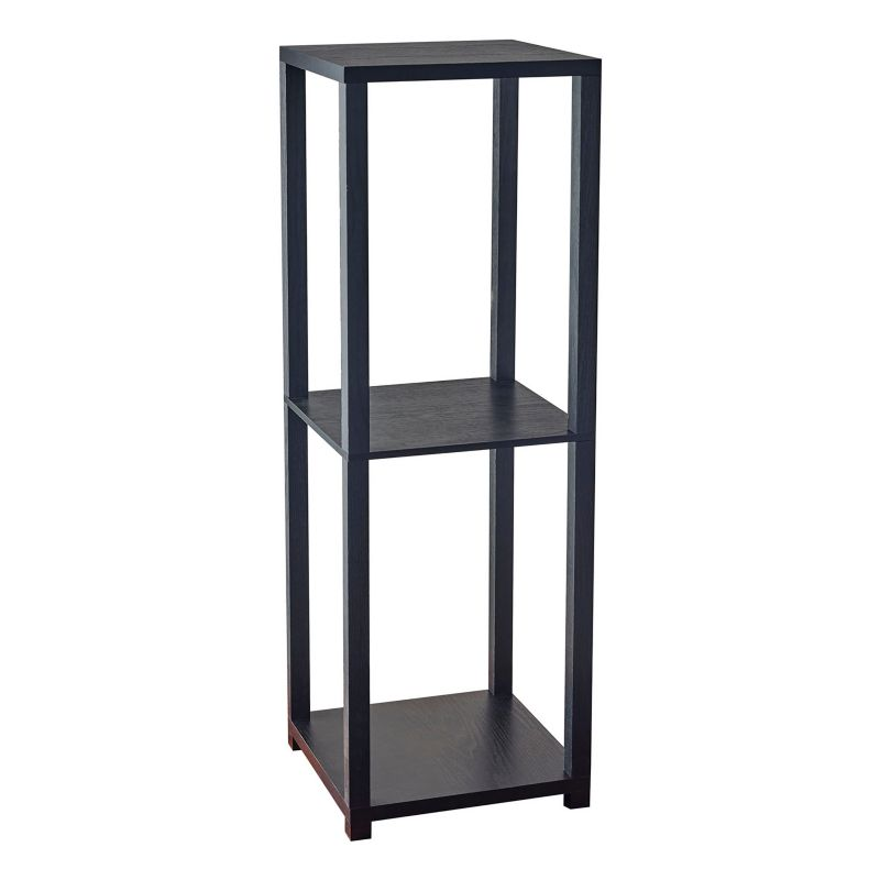 Adesso Lawrence Tall Pedestal End Table, Black