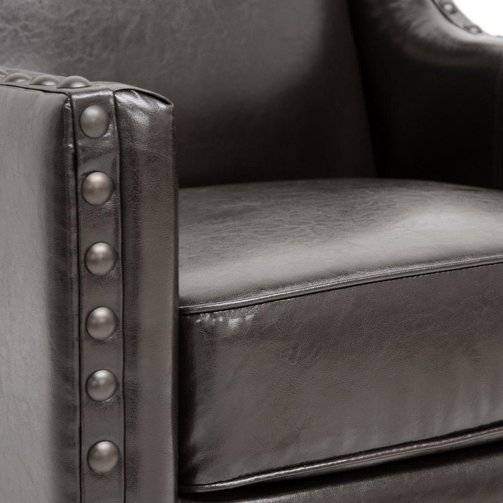 Baxton Studio Wallace Club Arm Chair