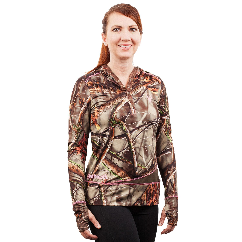 Huntworth Active Camo Fleece Hiking Hoodie - Womens