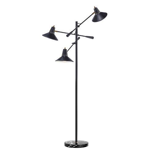 Adesso Nelson 3-Arm Floor Lamp