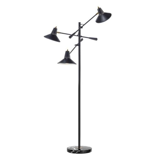 Adesso Nelson 3-Arm Floor Lamp