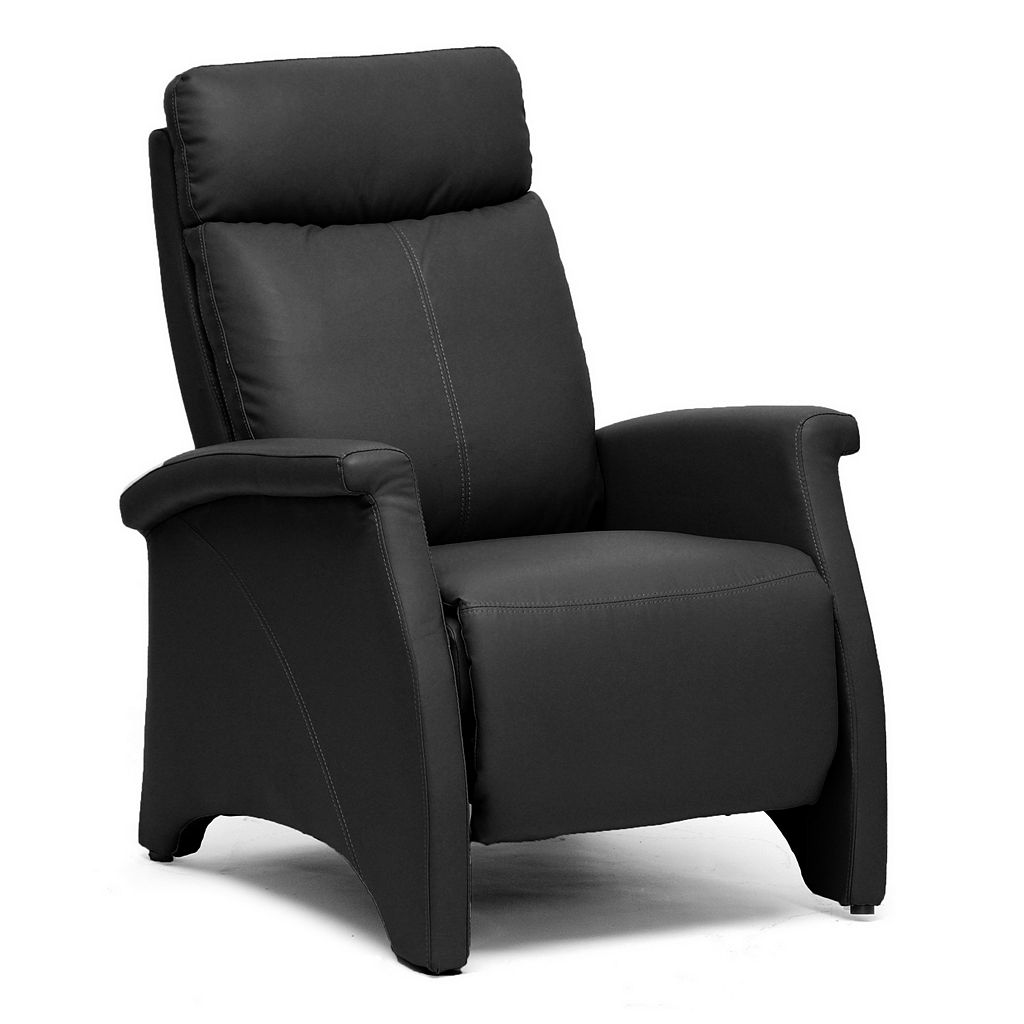Baxton Studio Sequim Club Recliner Arm Chair