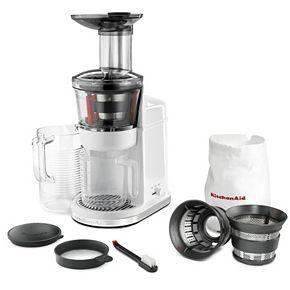 Kitchenaid Kvj0111 Maximum Extraction Slow Juicer : KitchenAid KvJ0111 Wide-Mouth Maximum Extraction Slow ...