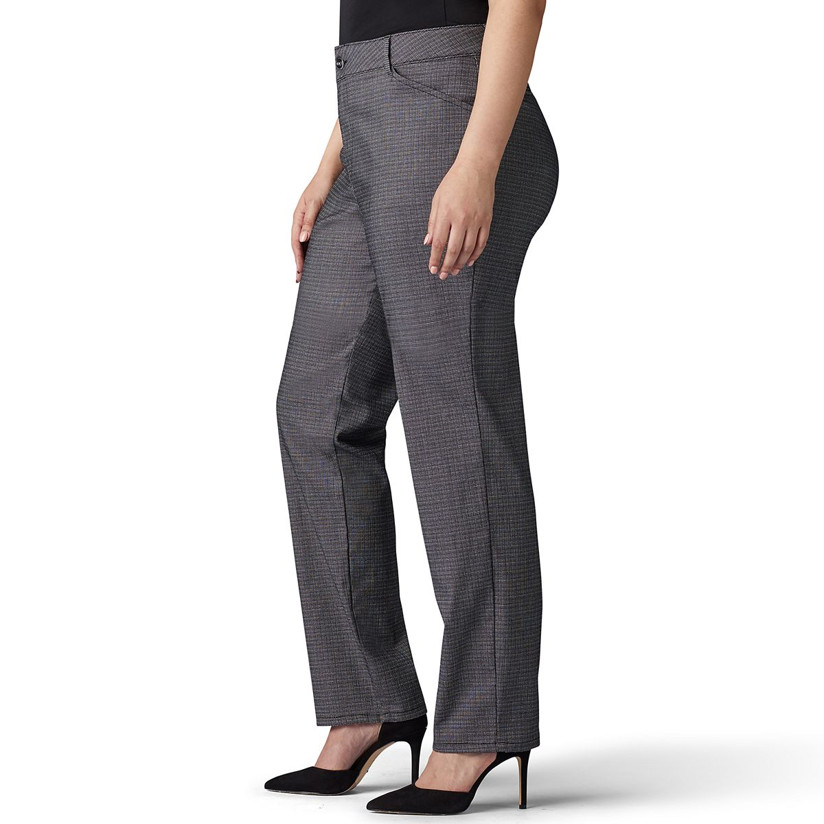 Plus Size Lee® Relaxed Fit Straight-Leg Pants Black EarWS