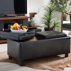 Baxton Studio Billiard Storage Ottoman