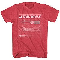 Men's Star Wars Light Saber Diagram Tee
