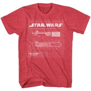 Star Wars Light Saber Diagram Tee - Men