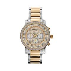 Akribos XXIV Men's Lux Diamond Stainless Steel Chronograph Watch