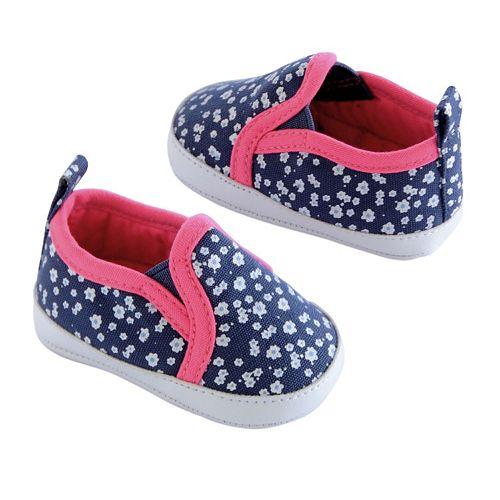 B'gosh® Baby Girl Floral Slip-On Crib Shoes