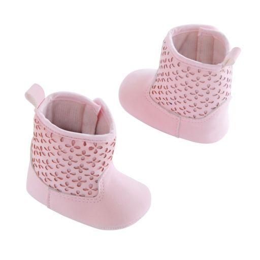 OshKosh B'gosh® Baby Girl Perforated Boot Crib Shoes