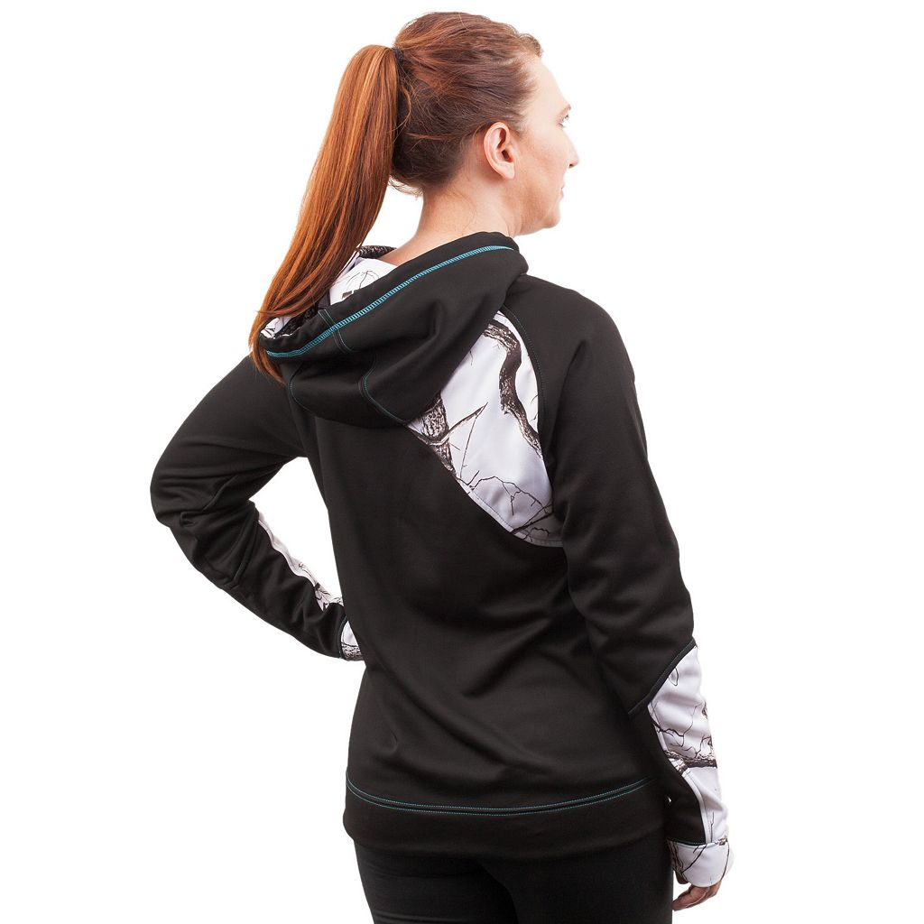 Huntworth Lifestyle Colorblock Fleece Hiking Hoodie - Women's