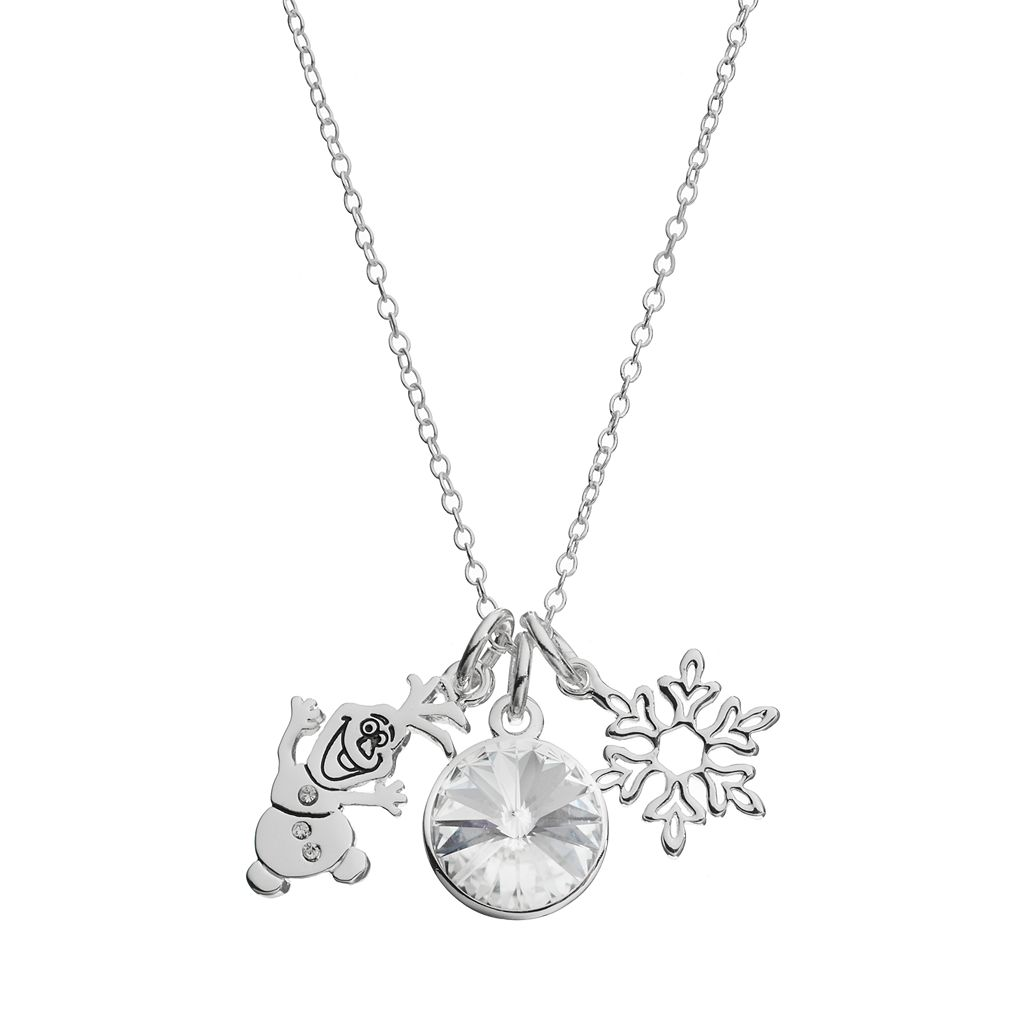 Disney's Frozen Crystal Olaf Charm Pendant Necklace