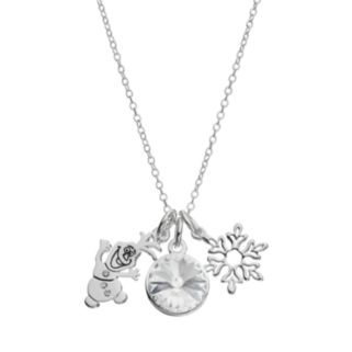 Disney's Frozen Crystal Olaf Charm Pendant Necklace