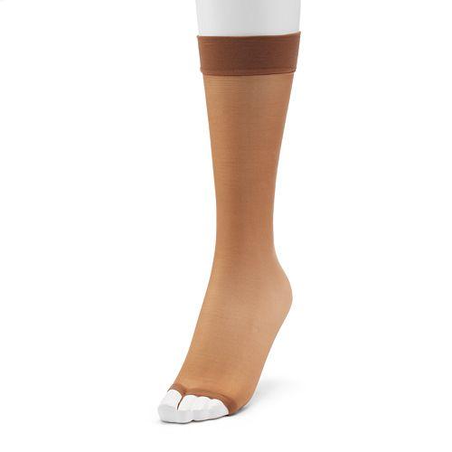 d3b70f608e9 Hanes Silk Reflections 2-pk. Toeless Knee-High Pantyhose