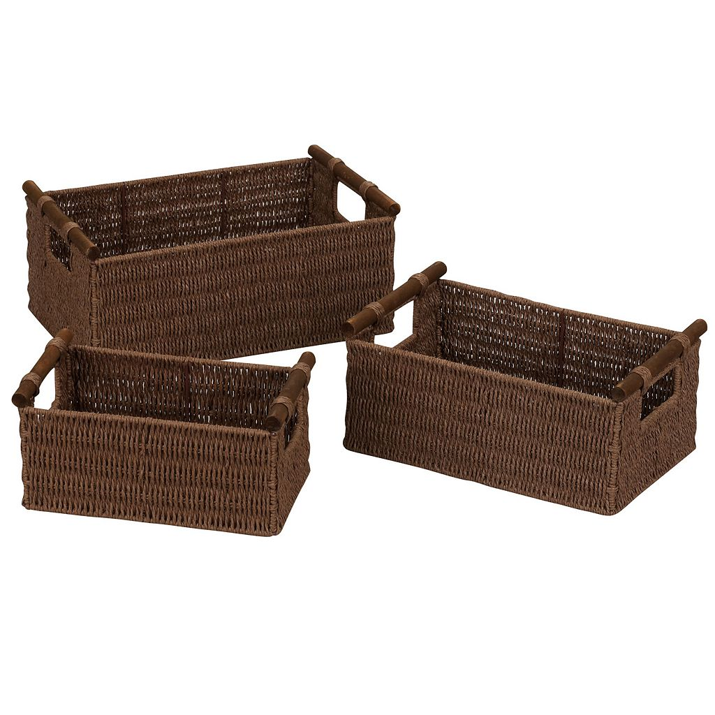 Household Essentials 3-pc. Paper Rope Basket Set