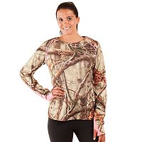 Huntworth Lightweight Camo Crewneck Hiking Top - Women's