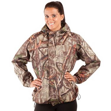 Women's Huntworth Camo Waterproof Microfiber Hunting Jacket