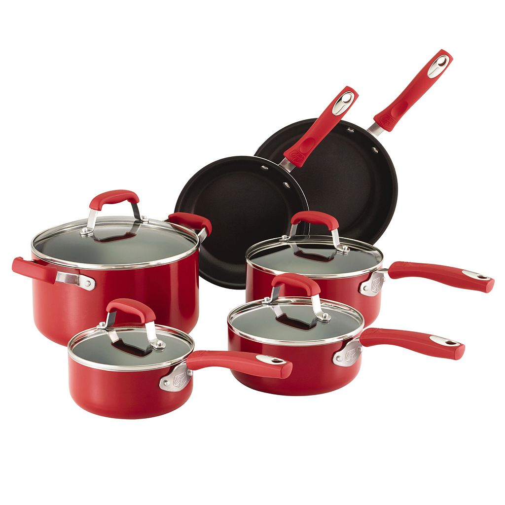 Guy Fieri 10-pc. Nonstick Aluminum Cookware Set