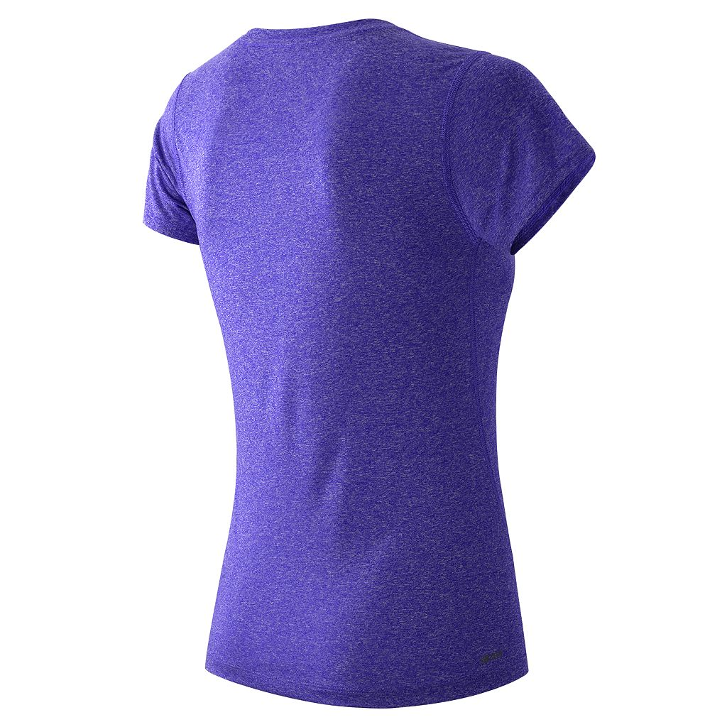Women's New Balance Heathered Crewneck Workout Tee