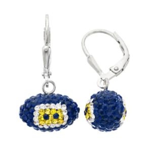 San Diego Chargers Crystal Sterling Silver Football Drop Earrings