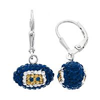 Los Angeles Rams Crystal Sterling Silver Football Drop Earrings