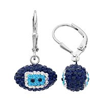 Tennessee Titans Crystal Sterling Silver Football Drop Earrings
