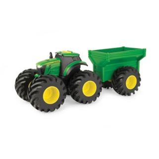 John Deere Monster Treads Tractor with Wagon Set