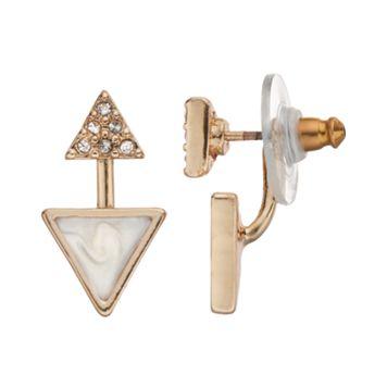 LC Lauren Conrad Triangle Ear Jacket Earrings