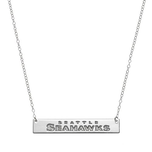 Seattle Seahawks Sterling Silver Bar Link Necklace