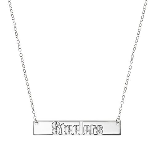 Pittsburgh Steelers Sterling Silver Bar Link Necklace