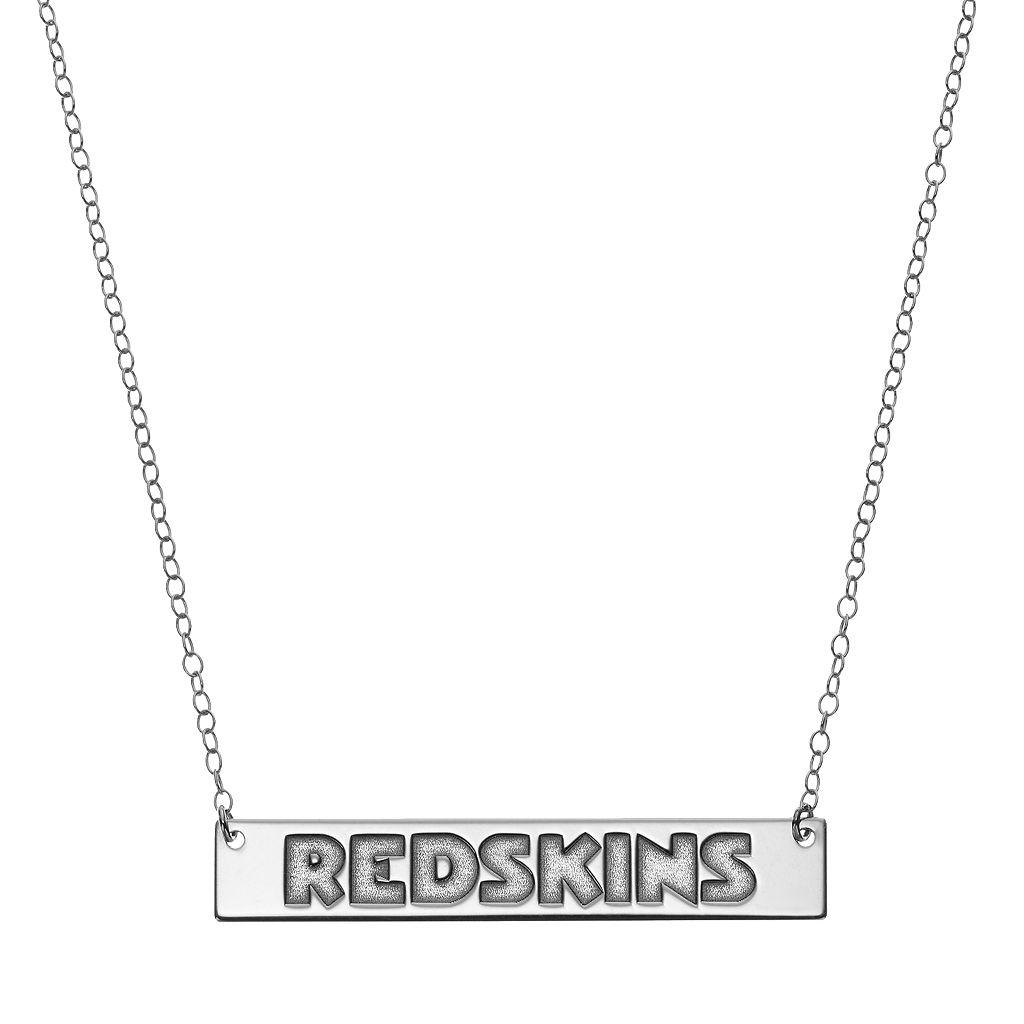 Washington Redskins Sterling Silver Bar Link Necklace
