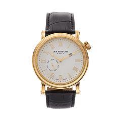 Akribos XXIV Men's Enterprise Leather Watch