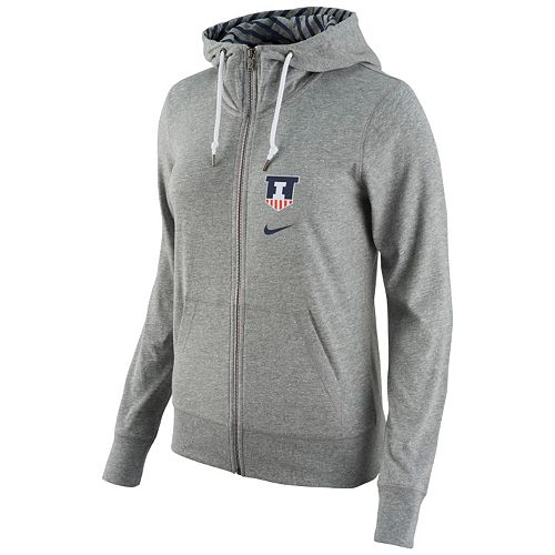34750e599cd6 Women s Nike Illinois Fighting Illini Gym Vintage Full-Zip Hoodie